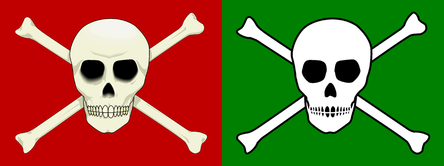 Simplification of the Jolly Roger