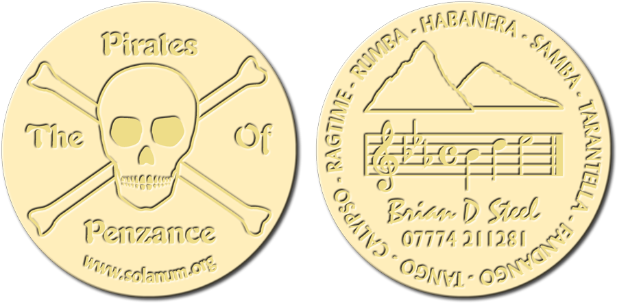 Simulated Number One Design Coins
