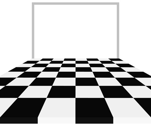 Chess Board with Cropping Frame
