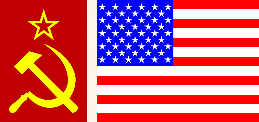 It's the US and USSR (Flags)