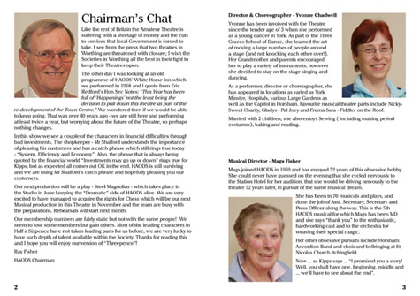 Chairman's Chat and Directors' Biographies