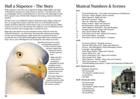 The Story and Musical Numbers