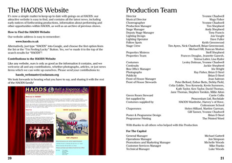 Website and Producton Team